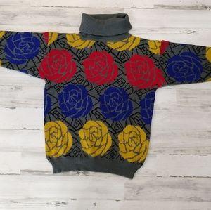 Vintage chunky 80s Grandma Turtleneck Sweater